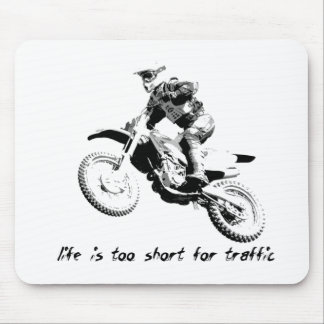 交通-土のバイクのモトクロスのために余りに短い マウスパッド