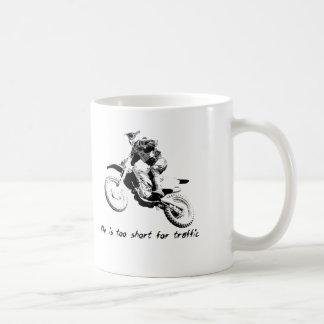 交通-土のバイクのモトクロスのマグのために余りに短い コーヒーマグカップ