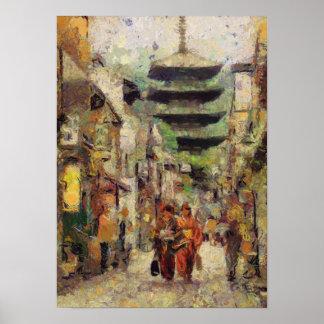 京都のプリントの通り ポスター