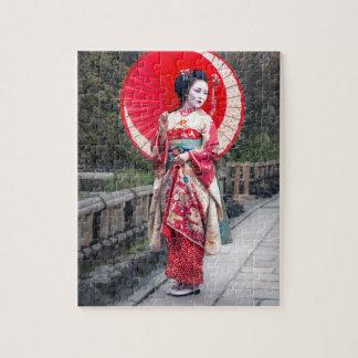 京都の日本のな芸者 ジグソーパズル