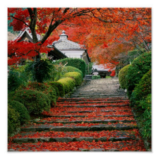 京都の紅葉 ポスター