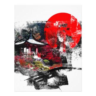京都日本の抽象芸術 レターヘッド