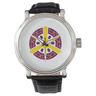 京都都市旗の京都府の日本記号 腕時計