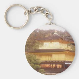 京都、日本の金パビリオン キーホルダー