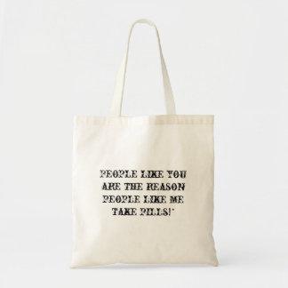 人々および丸薬バッグ トートバッグ