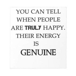人々が偽りなく幸せいつであるか言うことができます。 en ノートパッド