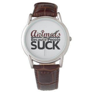 人々が吸うので動物 腕時計