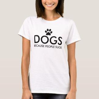 人々が足のプリントを吸うので犬 Tシャツ