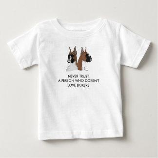 人々がWHOボクサーを愛さないことを決して信頼しないで下さい ベビーTシャツ
