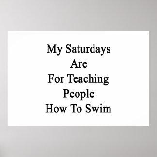 人々にのための私の土曜日は泳ぐ方法を教えています ポスター