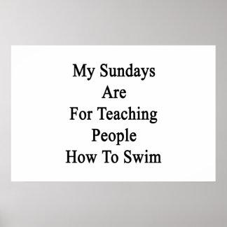 人々にのための私の日曜日は泳ぐ方法を教えています ポスター