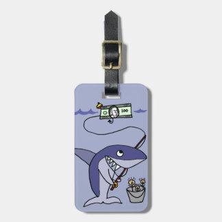 人々のためのおもしろいな鮫の魚釣り ラゲッジタグ