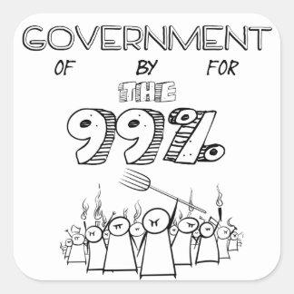 人々のためののそしてによる99%の政府 スクエアシール