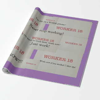 人々のための労働者18の包装紙! ラッピングペーパー