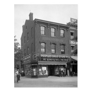 人々のドラッグストア1921年 ポストカード
