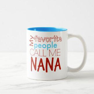 人々のナナの私のお気に入りのなマグ ツートーンマグカップ