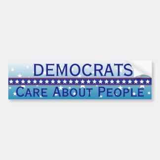 人々のバンパーステッカーについての民主党員の心配 バンパーステッカー