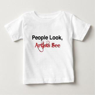人々の一見、芸術家は見ます ベビーTシャツ