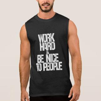 人々の体育館の刺激のワイシャツに堅くおよび素晴らしい働かせて下さい 袖なしシャツ