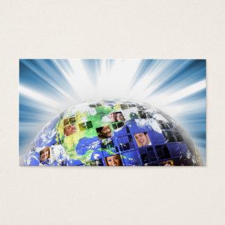 人々の全体的で世界的なネットワーク 名刺