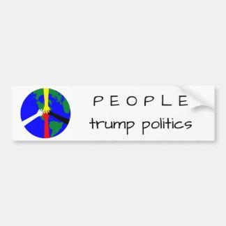人々の切札の政治-バンパーステッカー バンパーステッカー
