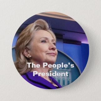 人々の大統領: ヒラリー2016年 7.6CM 丸型バッジ