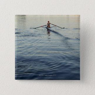 人々の漕艇 5.1CM 正方形バッジ