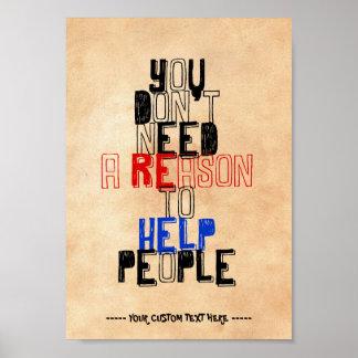 人々の美徳の引用文を救済する理由を必要としません ポスター