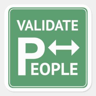 人々の~のメモの駐車ステッカーDBT BPDを認可して下さい スクエアシール