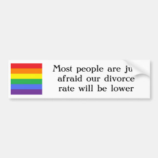 人々はゲイ同志の結婚がなぜほしいと思わないか真意 バンパーステッカー