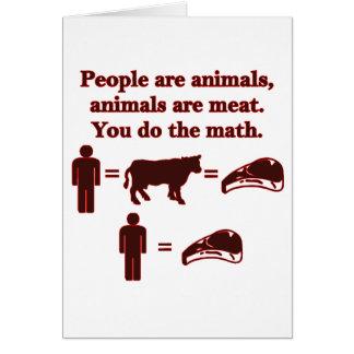人々は動物です: 肉数学 カード