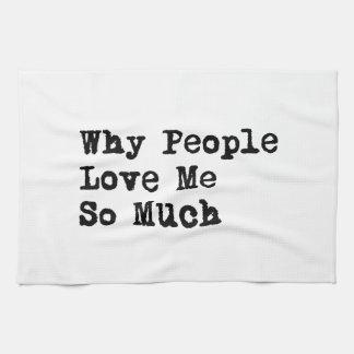人々は私を愛します キッチンタオル