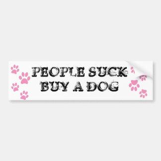 人々は買物を犬吸います バンパーステッカー