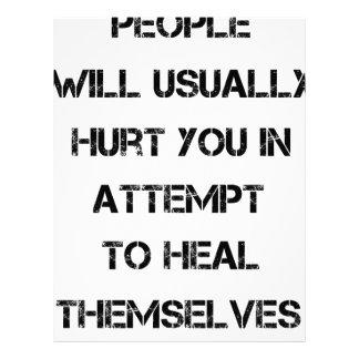 人々は通常直る試みの傷つけます レターヘッド