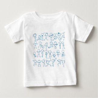 人々を落書きします ベビーTシャツ