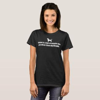 人々-ビーグル犬のリストは次あります Tシャツ