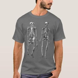 人およびサルの骨組進化論 Tシャツ