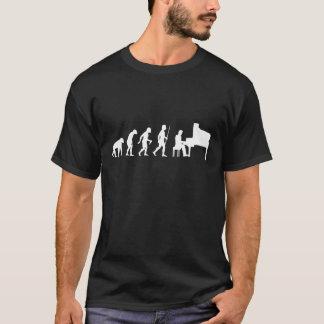 人およびピアノの進化 Tシャツ