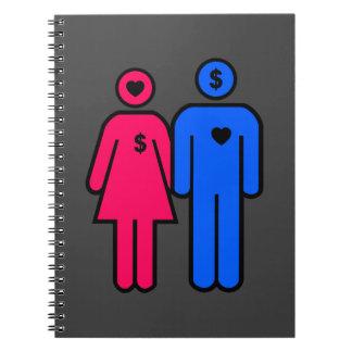 人および女性 ノートブック