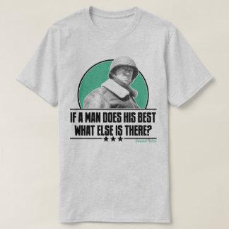 人が彼のベスト米国の軍事史Pattonをすれば Tシャツ