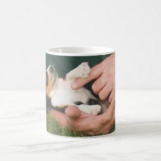 人で親友の子犬 コーヒーマグカップ