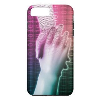 人と機械間のデジタル握手 iPhone 8 PLUS/7 PLUSケース