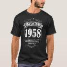 人のおもしろいなヴィンテージ1958年の第60誕生日のワイシャツ Tシャツ