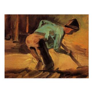 人のかがむ棒、ゴッホのヴィンテージの芸術著踏鋤 ポストカード