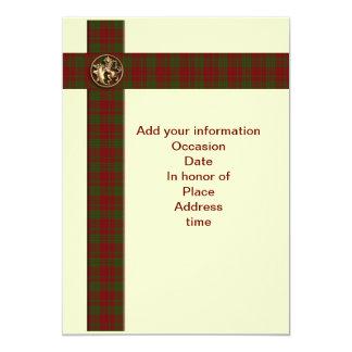 人のためのスコットランドの格子縞のライオンの招待状 12.7 X 17.8 インビテーションカード
