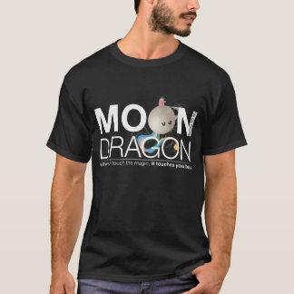 人のための月のドラゴンVneck Tシャツ