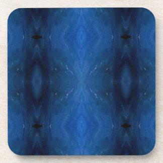 人のためのPersonalizable黒く青いパターン コースター