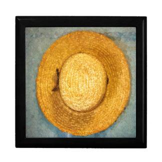 人のわらの農業の帽子 ギフトボックス