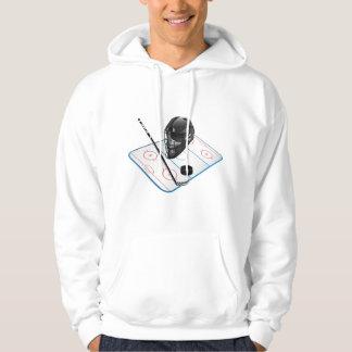 人のアイスホッケーの基本的なフード付きのスエットシャツ パーカ