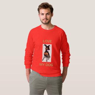 人のアメリカの服装のRAGLANのスエットシャツ-犬 スウェットシャツ